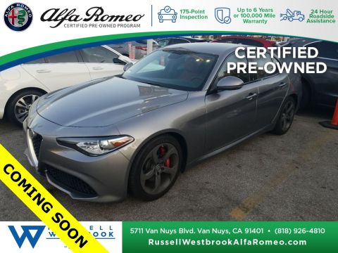 Certified Pre-Owned 2019 Alfa Romeo Giulia Base